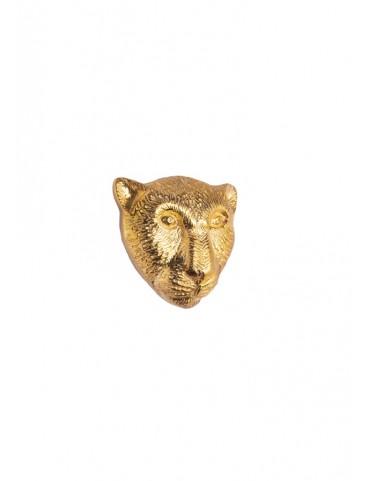 Sterling Silver Leopard Brooch