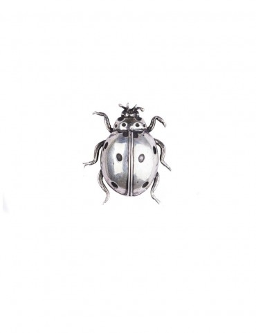 Sterling Silver Lady Bug Brooch