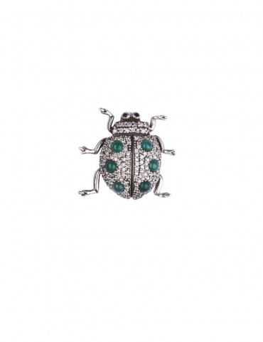 Sterling Silver Bejewelled Lady Bug