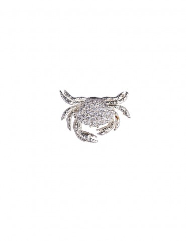 Sterling Silver Crab Brooch