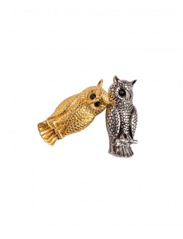 Sterling Silver Owl Brooch