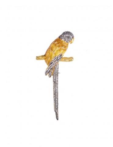 Sterling Silver Parrot Brooch
