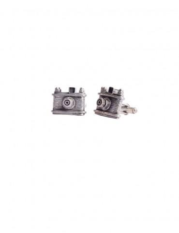Sterling Silver Camera Cufflinks