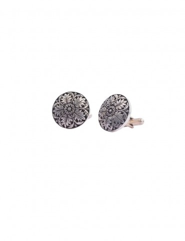 Sterling Silver Floral Cufflinks
