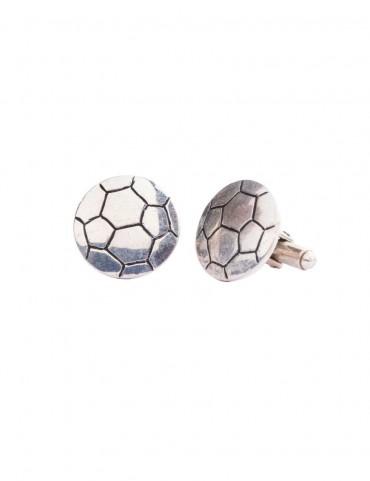 Sterling Silver Soccer Cufflinks