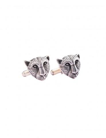 Sterling Silver Leopard Cufflinks