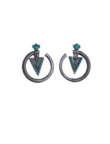 Sterling Silver Trikone Earrings