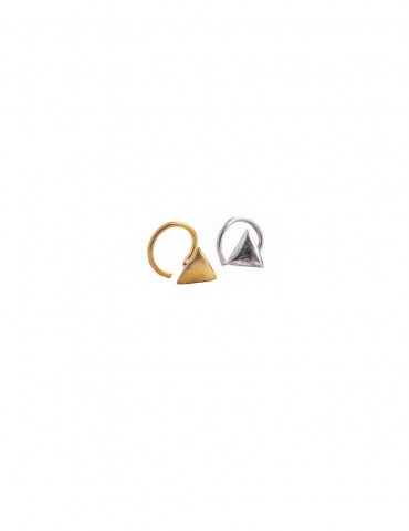 Sterling Silver Basic Triangle Nose Pin
