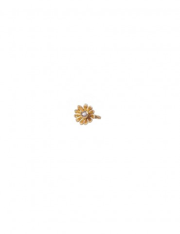 Sterling Silver Floral Nose Pin