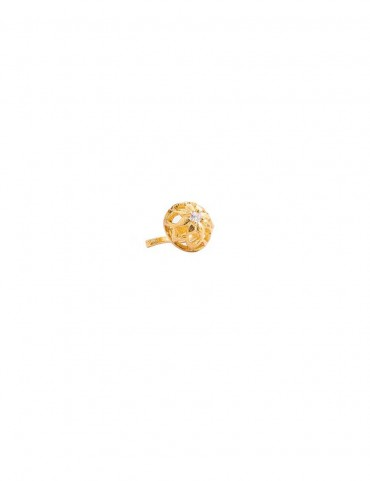 Sterling Silver Dome Floral Nose Pin