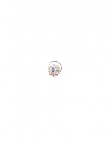 Sterling Silver Crystal Stud Nose Pin