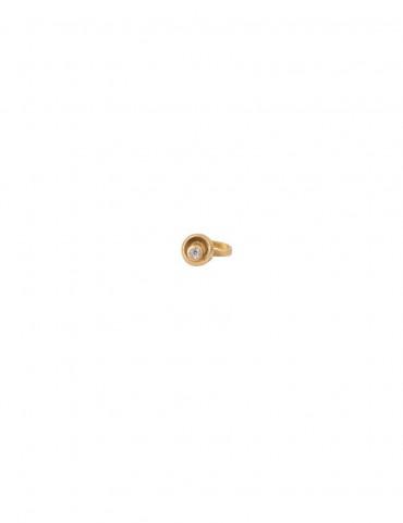 Sterling Silver 'Circle in Circle' Nose Pin
