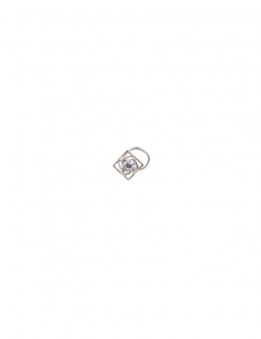 Sterling Silver Square Play Nose Pin