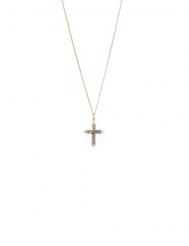 Sterling Silver Cross with Labradorite Pendant