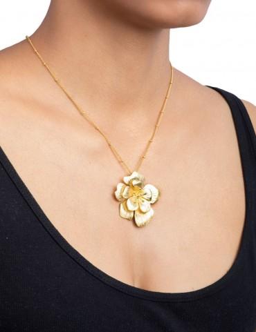 Sterling Silver Bohemian Rose Pearl Pendant