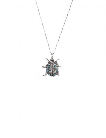 Sterling Silver Lady Bug Pendant