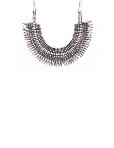 Sterling Silver Tribal Choker Necklace