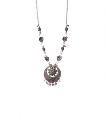 Sterling Silver Chaand Necklace