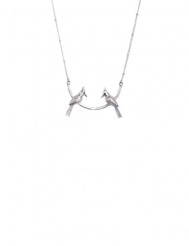 Sterling Silver Birds of Feather Pendant