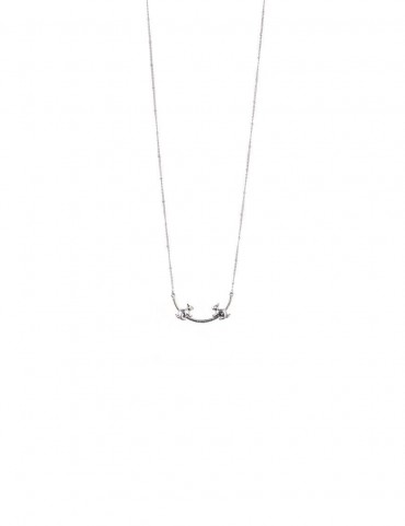 Sterling Silver Confronting Rabbit Necklace