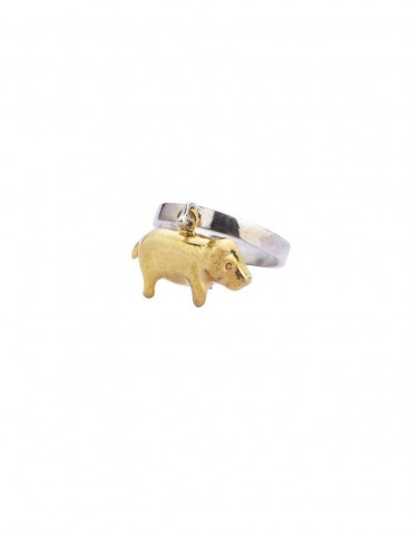 Sterling Silver Oink-Oink Ring