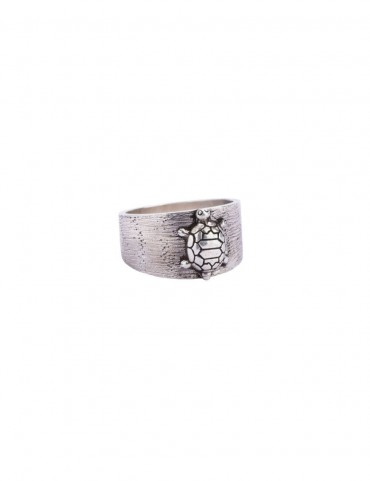 Sterling Silver Textured Turtle Ring