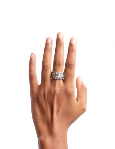 Sterling Silver Haathi Ghooda Ring