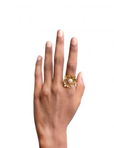 Sterling Silver Sunflower Ring