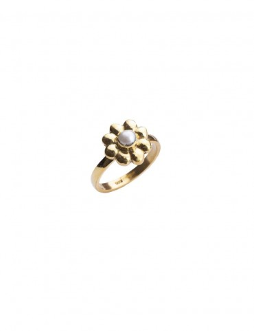 Sterling Silver Simple Floral Ring
