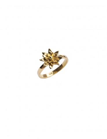 Sterling Silver Emerging Flower Ring