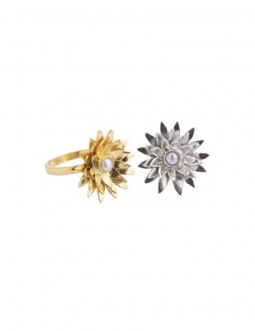 Sterling Silver Lotus Ring