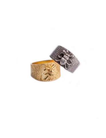 Sterling Silver Textured Bug Ring