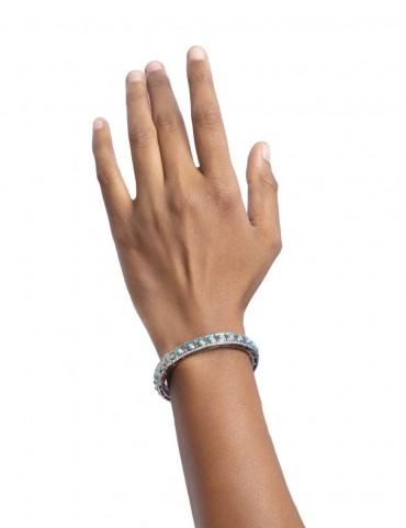 Sterling Silver Firoza  Bangle Bracelet