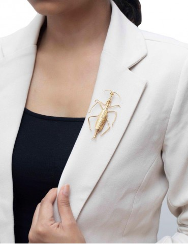 Sterling Silver Mantis Brooch