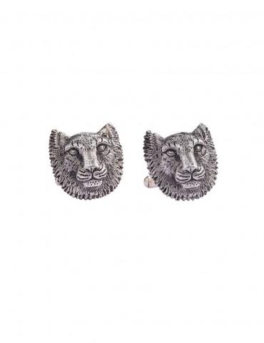 Sterling Silver Snow Leopard Cufflinks