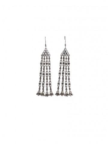 Sterling Silver Tiny Flowers Ghungaroo Earrings