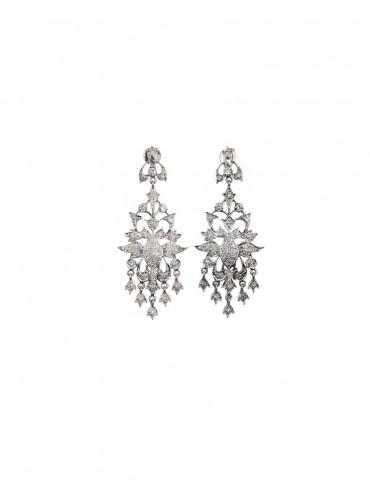 Sterling Silver Peacock Earrings
