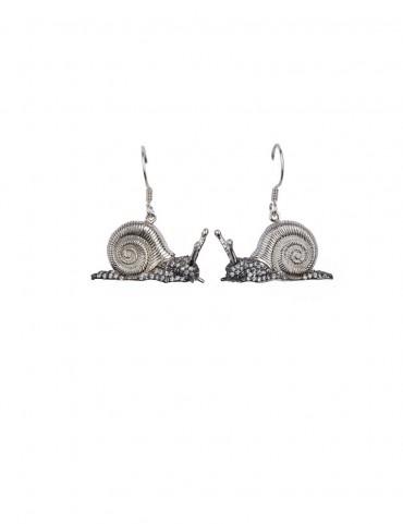 Sterling Silver Shy Snail Earrings