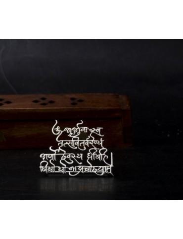 Gayatri Mantra Stand Small