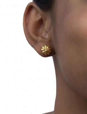 Sterling Silver Floral Basic Earrings