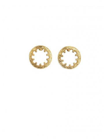 Sterling Silver Round Raawa Earrings