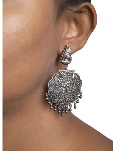 Sterling Silver Confronting Birds earrings