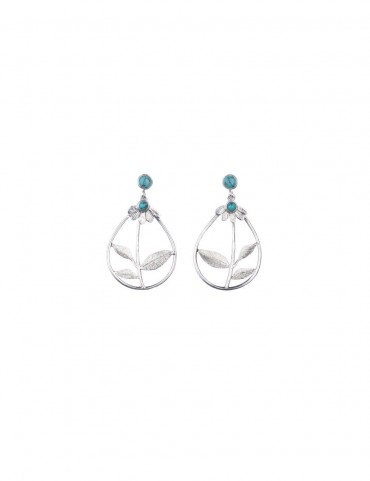 Sterling Silver Firoza Light weight Earrings