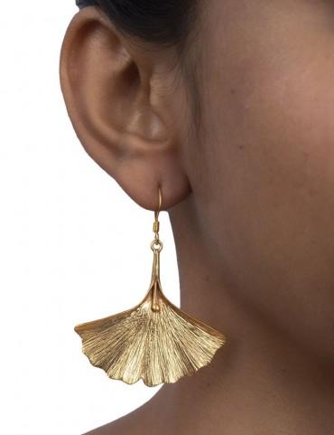 Sterling Silver Ginkgo Earrings