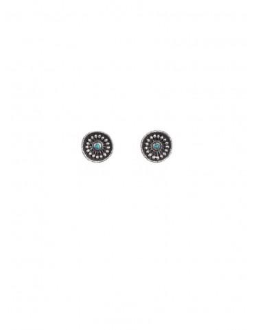 Sterling Silver Firoza Boho Earrings