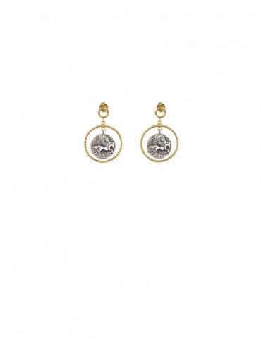 Sterling Silver Pegasus Earrings