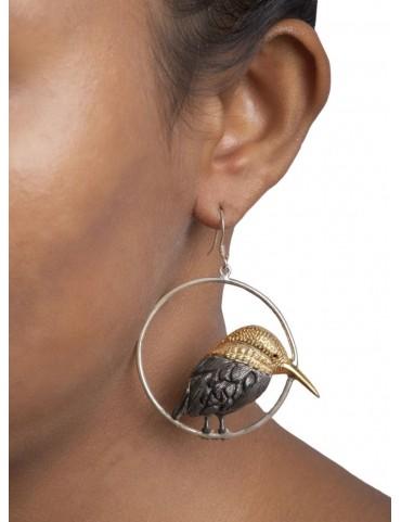 Sterling Silver Kingfisher Earrings