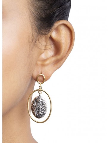 Sterling Silver Coin Style Engraved Earrings