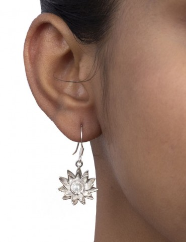 Sterling Silver Floral on Floral Earrings