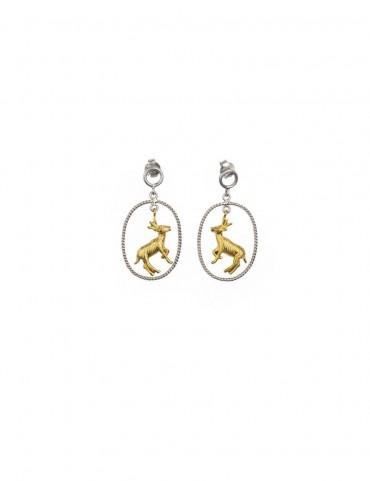 Sterling Silver Deer Earrings